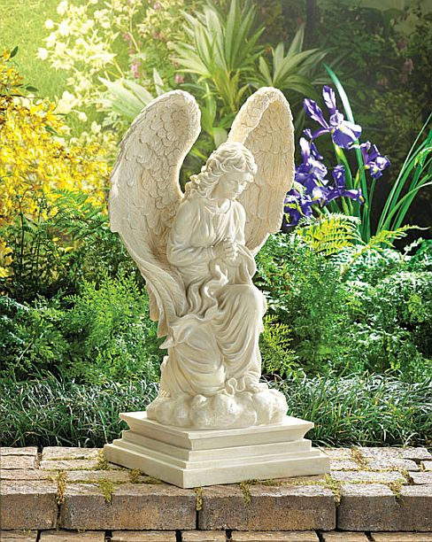 garden store h faith angel statue from male statues catholic
