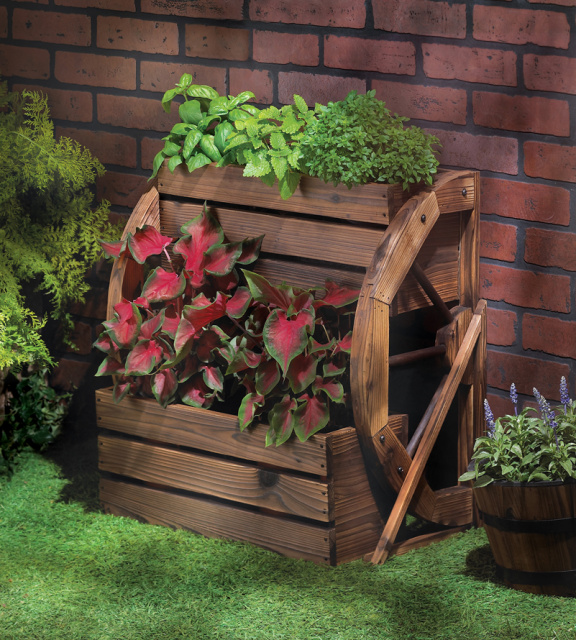 Western style planter for Garden decor accents