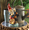 Enchanting Fishing Gnome Solar Statue