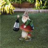 Whimsical Gnome with Solar Lantern