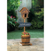 Rustic Birdhouse and Planter