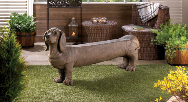 Adorable Dog Themed Garden Bench