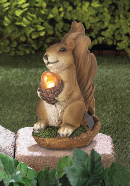 Squirrel Solar Garden Accent