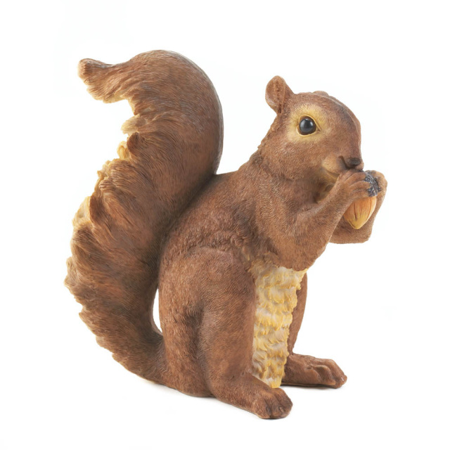 Nibbling Squirrel Garden Accent