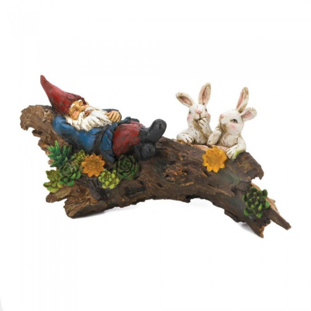 Solar Gnome with Bunnies