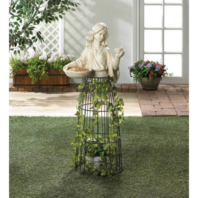 Elegant Lady Planter and Birdfeeder