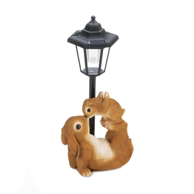 Mom and Baby Rabbit Solar Lamp