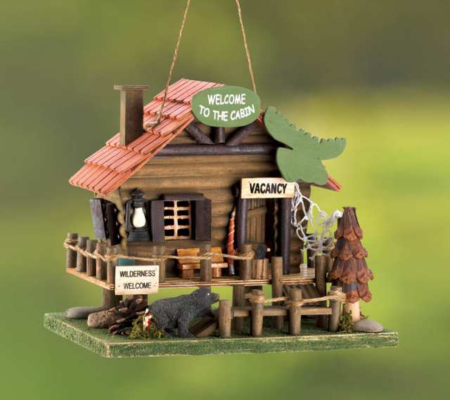 Whimsical Cabin Birdhouse
