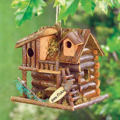 Birdhouse-Whimsical Cabin