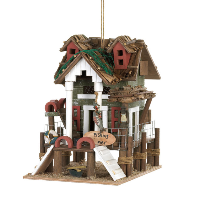 Charming Fishing Themed Birdhouse