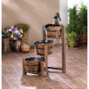Rustic Barrel Cascading Fountain