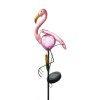Tropical Flamingo Solar Stake