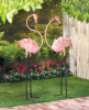 Enchanting Flamingo Garden Stakes