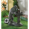 Whimsical Solar Dog Fountain